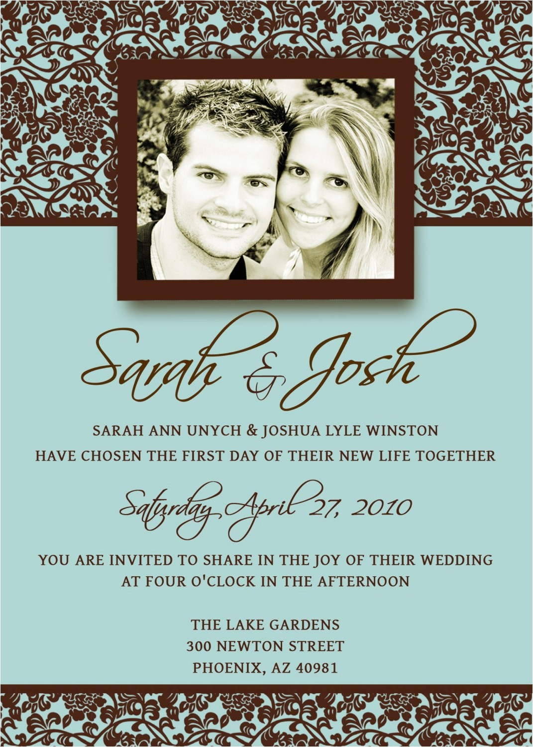 sarah josh wedding invitation template from etsy