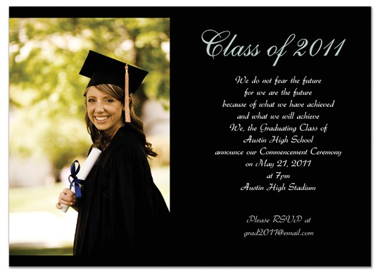 Example Of Graduation Invitation Download Examples Graduation Invitation Announcement Black