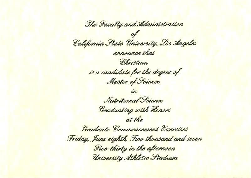 graduation announcement sample