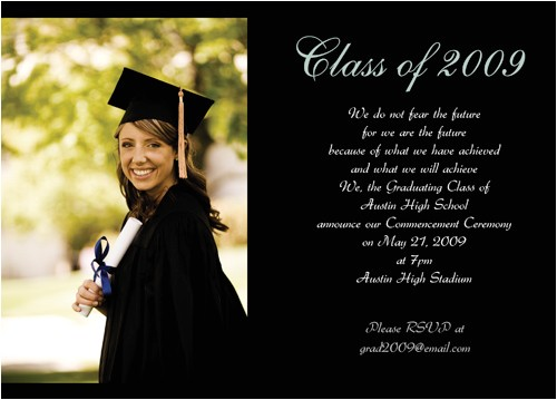 example of college graduation invitations