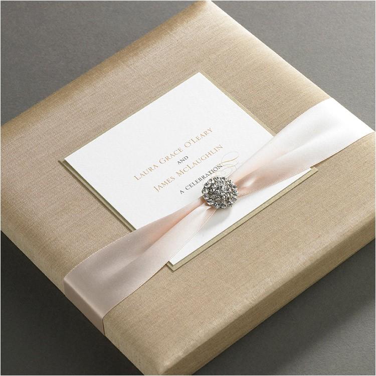 silk wedding invitation boxes an ultimate luxury