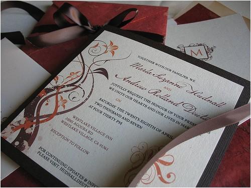 diy wedding challenge elegant fall colored wedding invitations