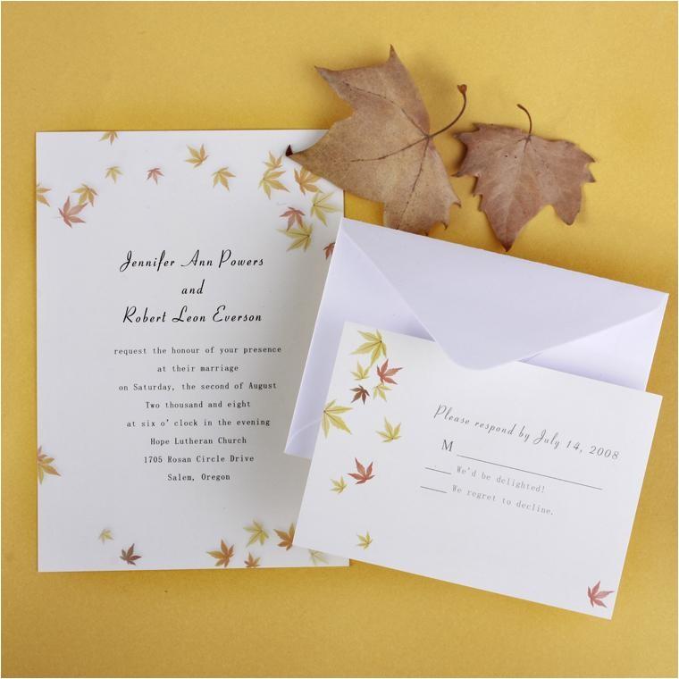top 5 autumnfall wedding invitation
