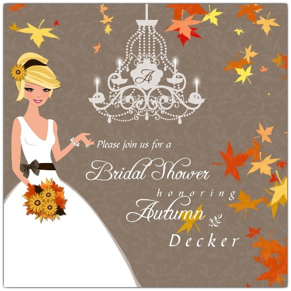 autumn romance bridal shower invitations p 606 55 bs108