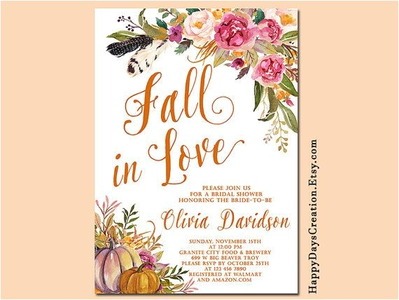 autumn bridal showers