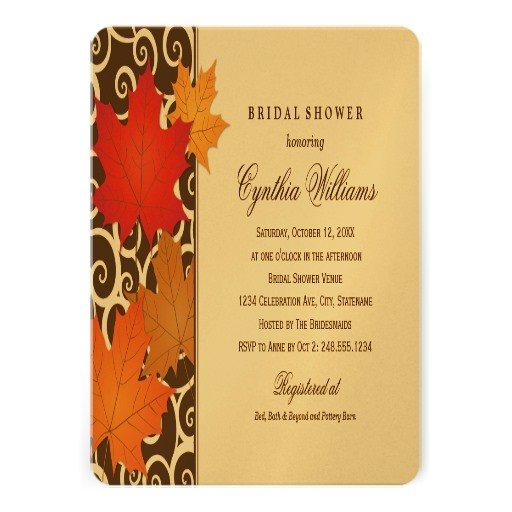 bridal shower invitation autumn fall theme 161836268441097038