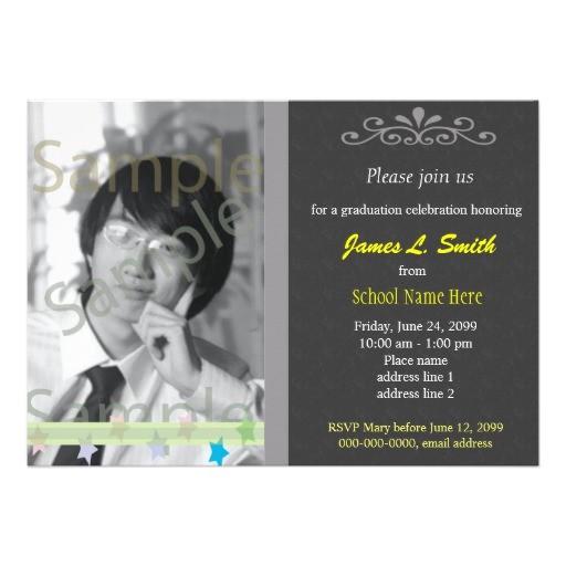 elegant cool photo graduation invitations 161397053506234058