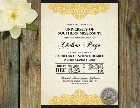 elegant graduation party invitation announcement