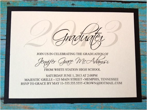elegant 2013 graduation invitations