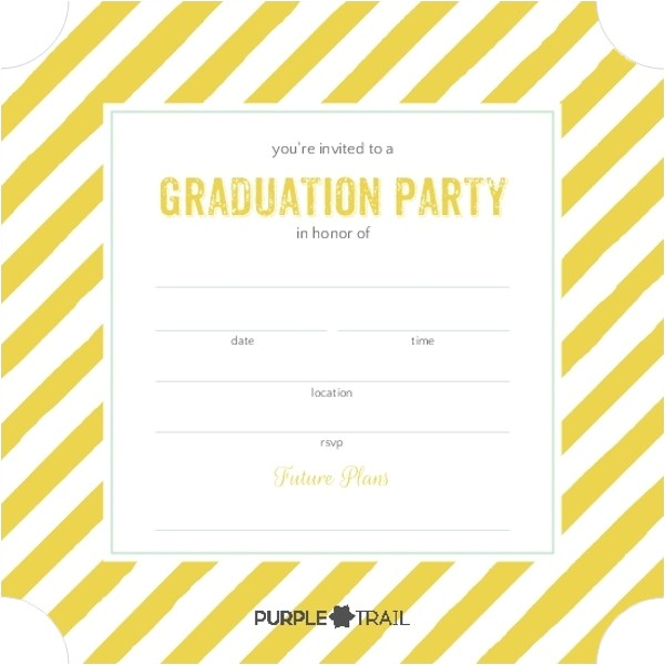 blank graduation invitation
