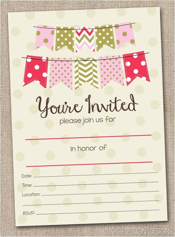 fill in blank party invitations