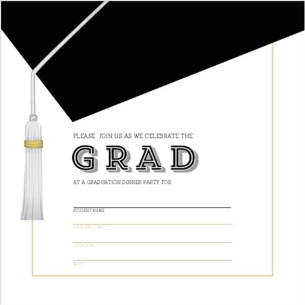 graduation blank invitation