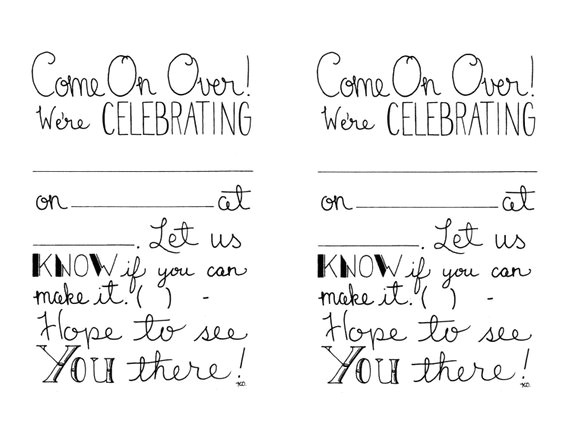 printable party invitations fill in