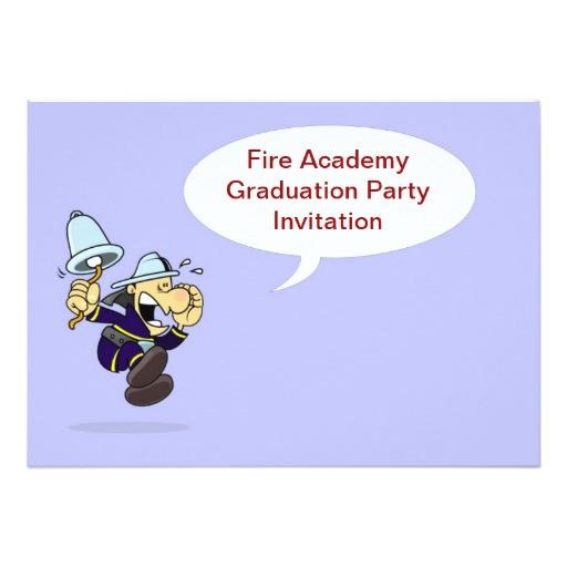 fire academy graduation party invitation fireman 161447364475851614