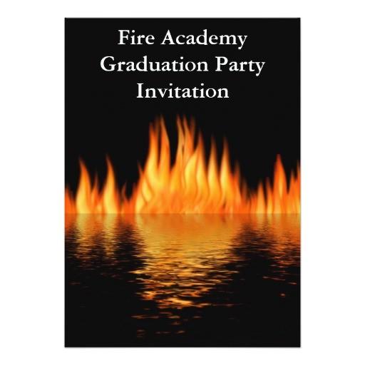 fire academy graduation party invitation fireman 161150071382381009
