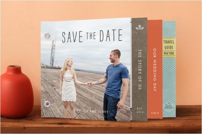 unique destination wedding invite idea flipbook