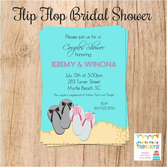 flip flop bridal shower invitation you