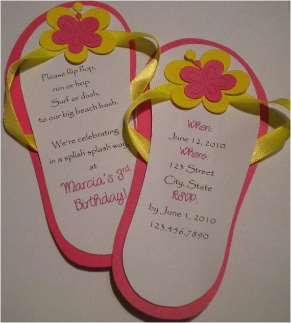 flip flop invitations beach party