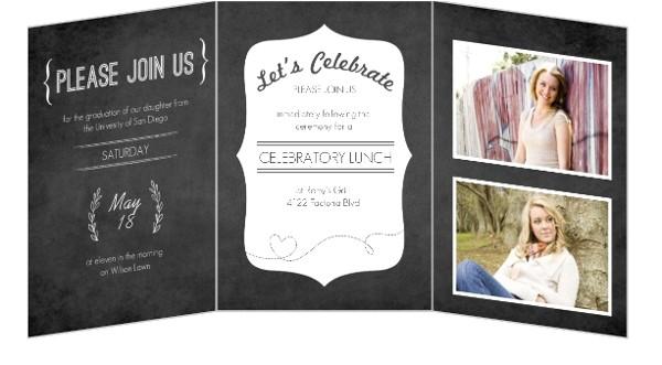 tri fold graduation invitations