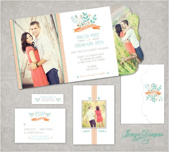 wedding invitation boutique tri folded