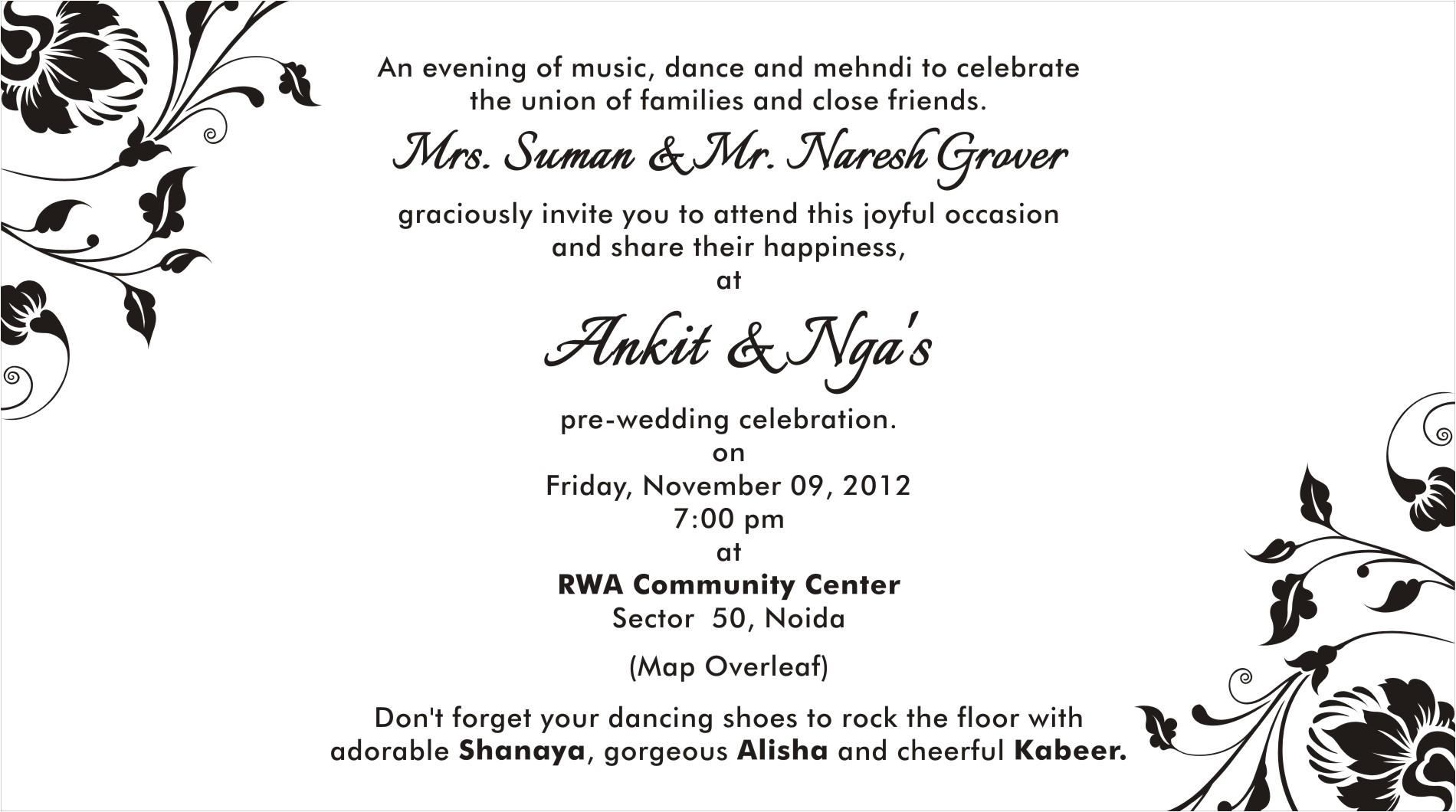 invitations and program details