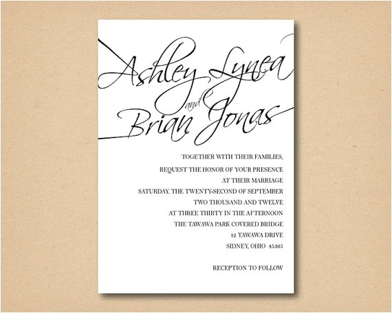 invitations formal enough for an evening wedding