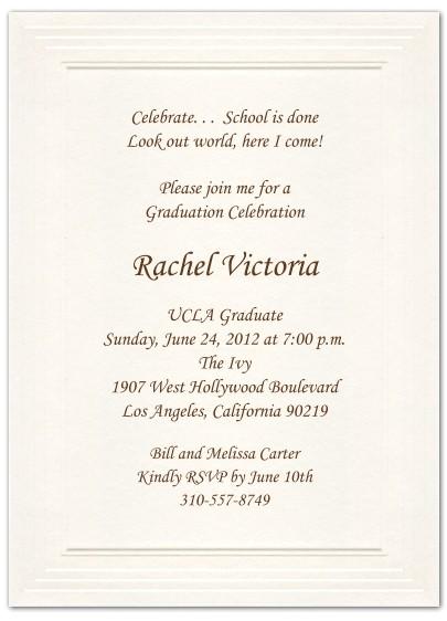 formal graduation invitations
