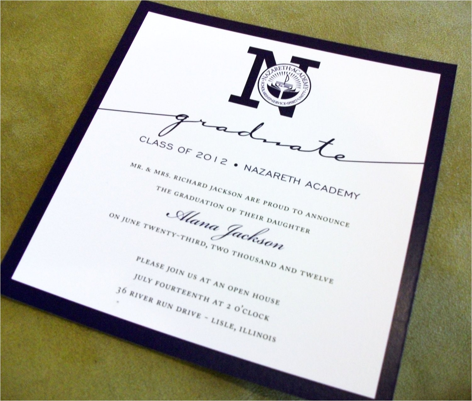 formal college graduation invitation wording