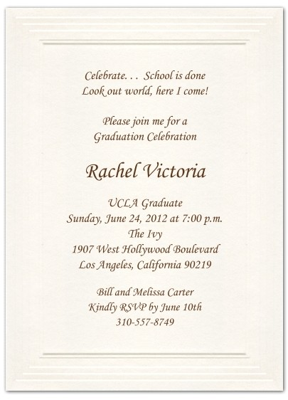formal graduation invitations