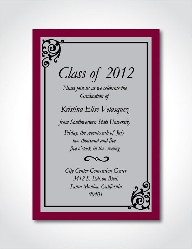 post free printable formal graduation invitations 42910