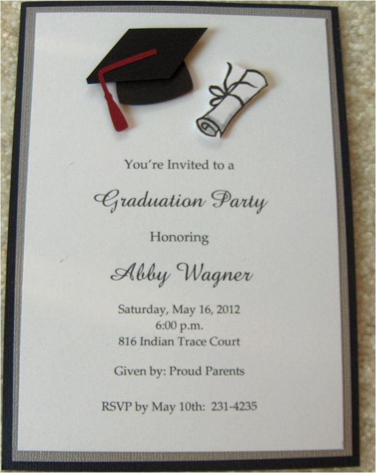 graduation announcements wording