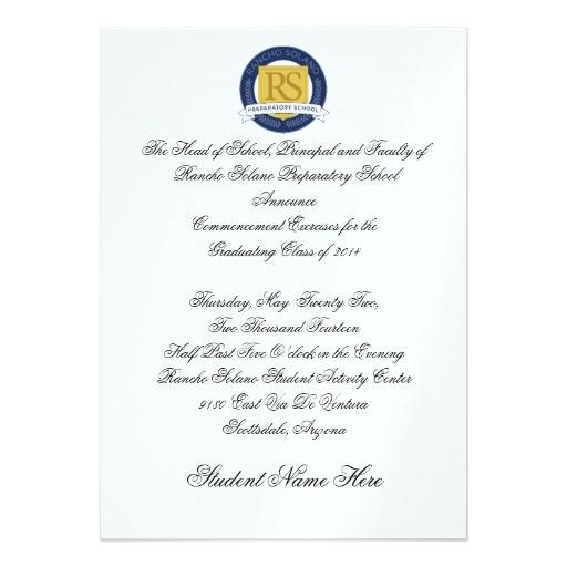 rsps graduation announcement formal 161707339416121163
