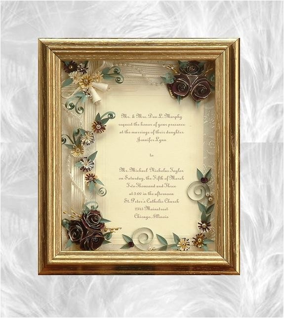 framed wedding invitation framed wedding