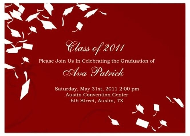 free graduation invitation templates for word