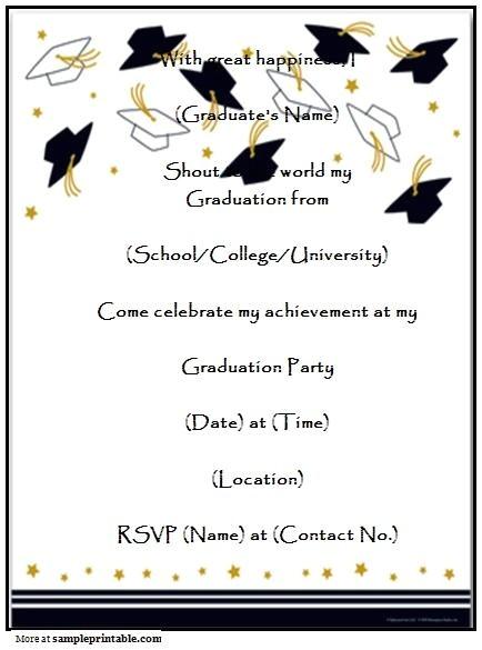 graduation announcement templates free