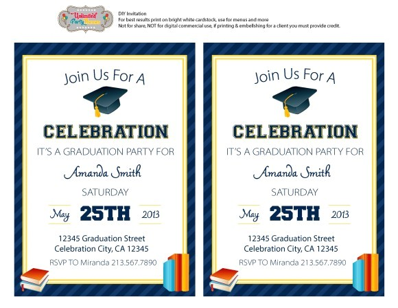 free graduation party printables unlimted party themes
