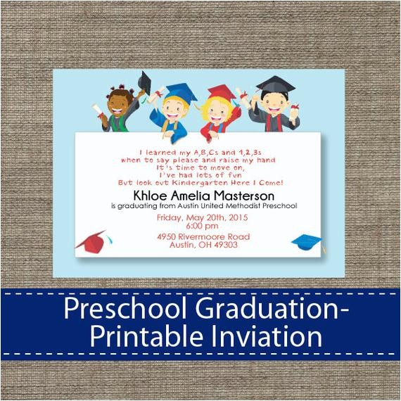 preschool graduation invitation diy