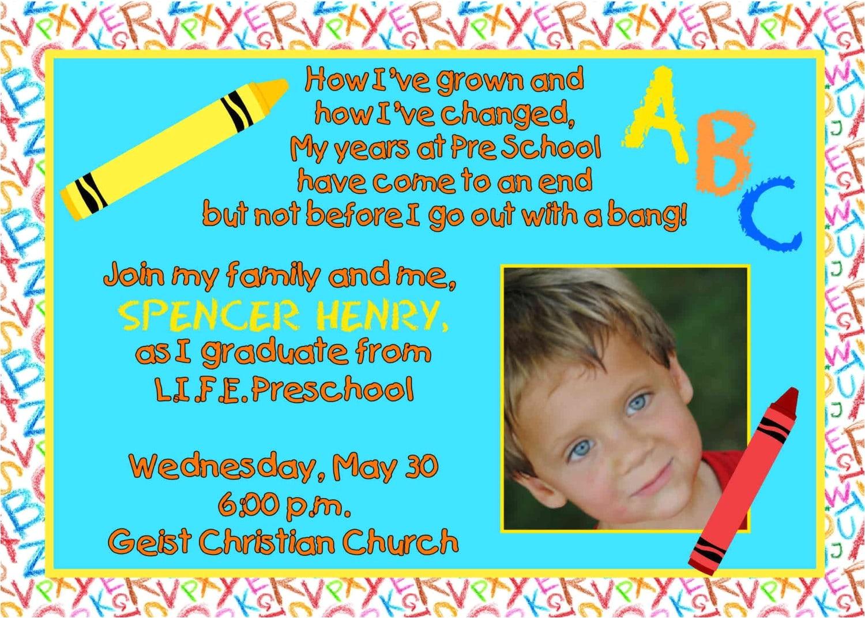 preschool graduation invitation free download