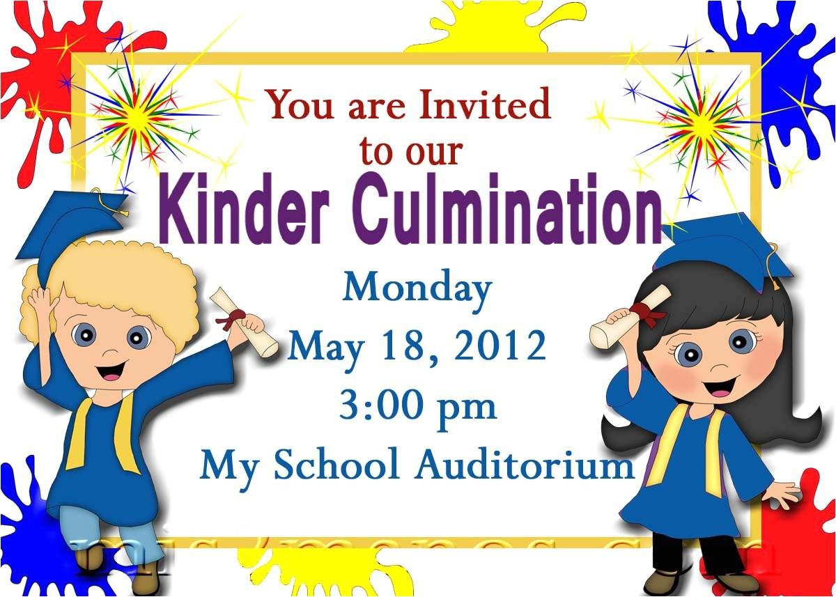 preschool graduation invitations printable invites