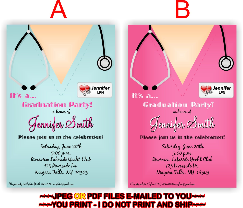 nursing graduation invitation templates