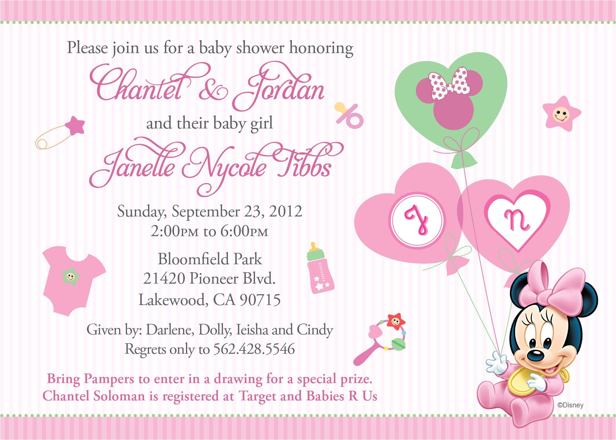 Free Online Invites for Baby Shower Baby Shower Invitation Free Baby Shower Invitation