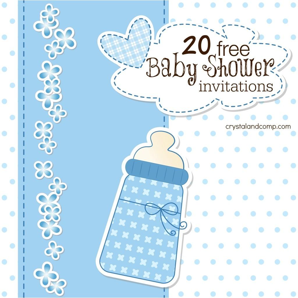 18 free baby shower invites