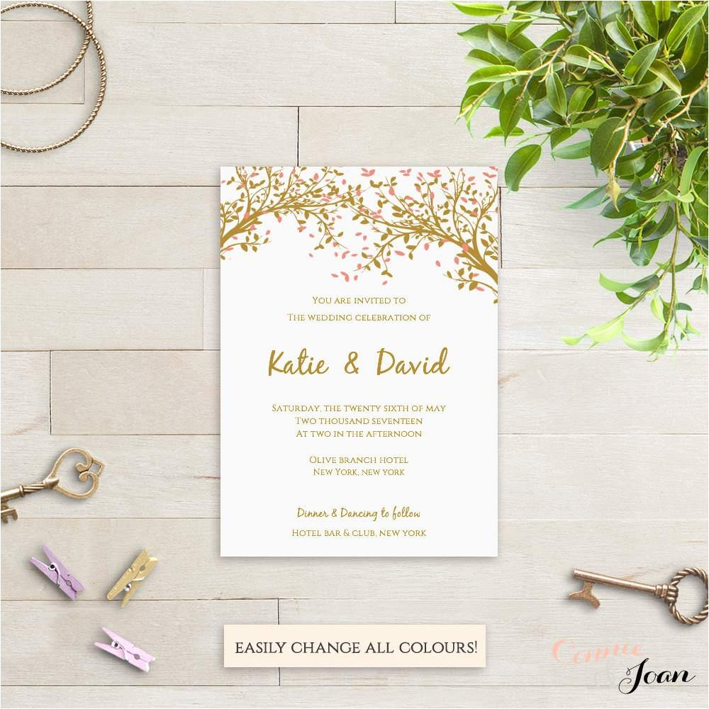 wedding invitation templates free