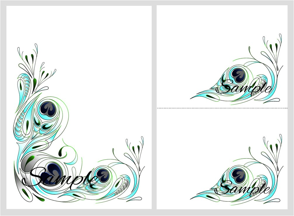 peacock wedding invitations cheap template
