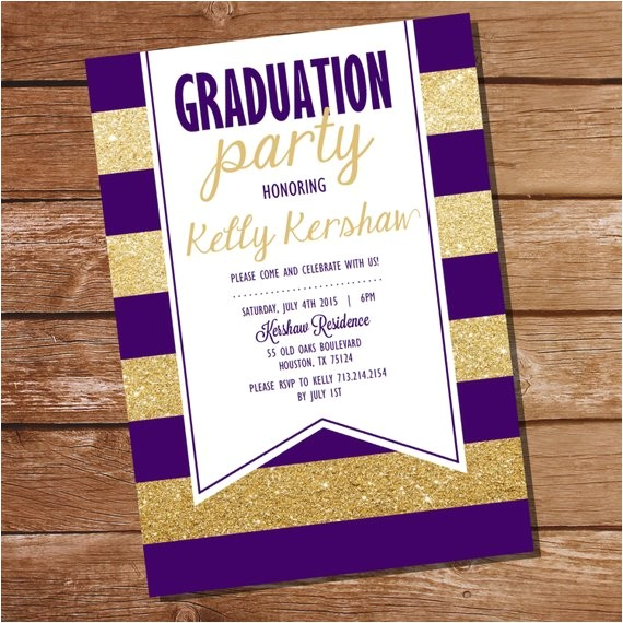 purple gold graduation invitation gold graduation 3
