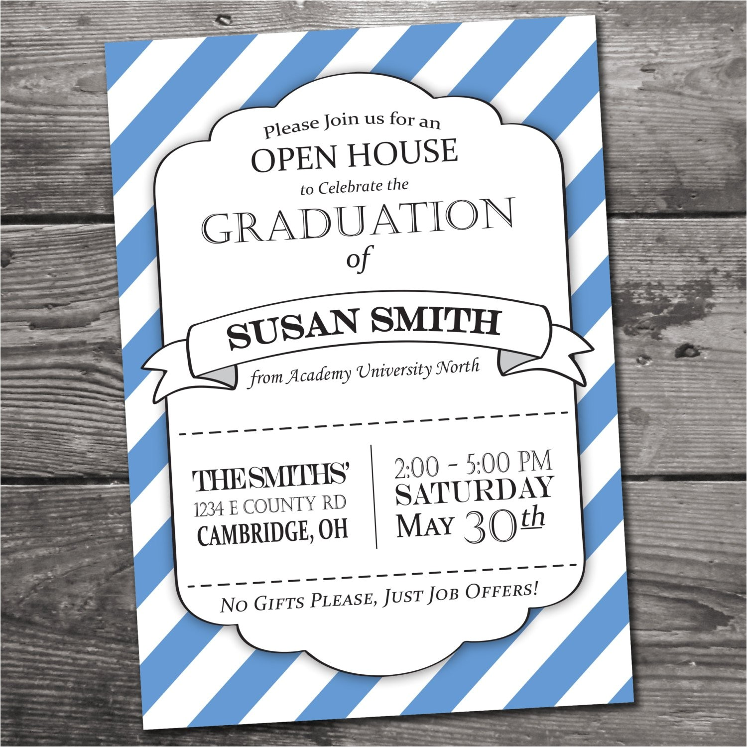 customizable graduation open house