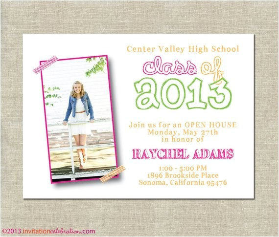 graduation invitation open house
