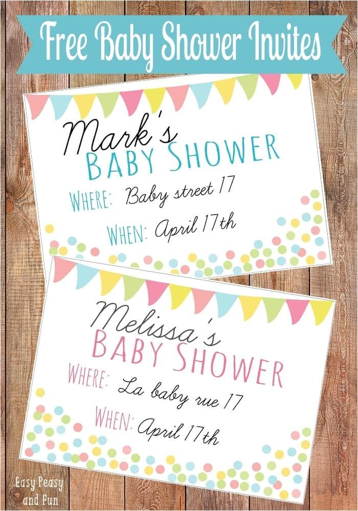 free printable baby shower invitation