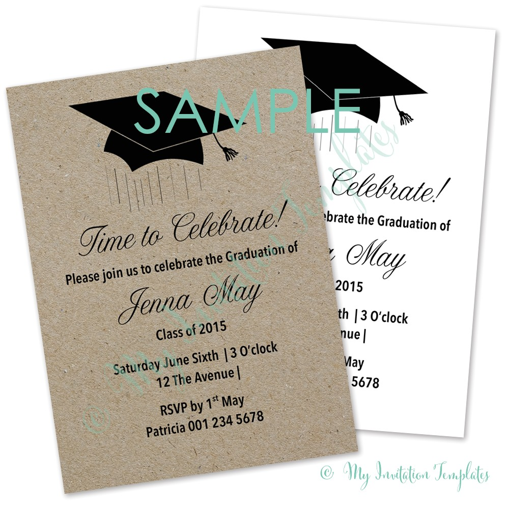 graduation invitation template free sample