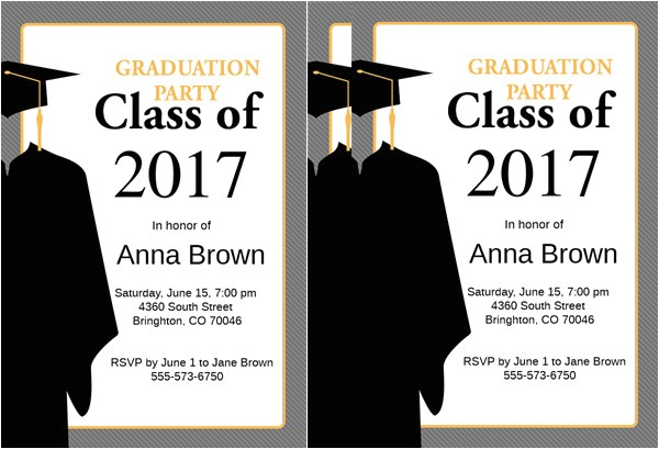 Free Sample Of Graduation Invitation Sample Graduation Invitations Free Premium Templates